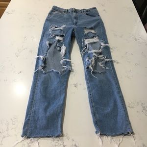 ASOS ripped destroyed denim jeans size:30/38
